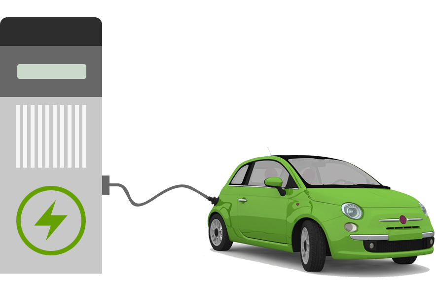Charge Ready - An image with an electric car charging